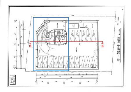 A區抄圖與B-B剖面位置
