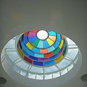 彩色玻璃芎頂