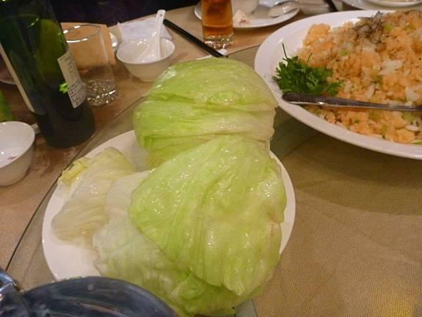 碧綠生菜鮮蝦鬆