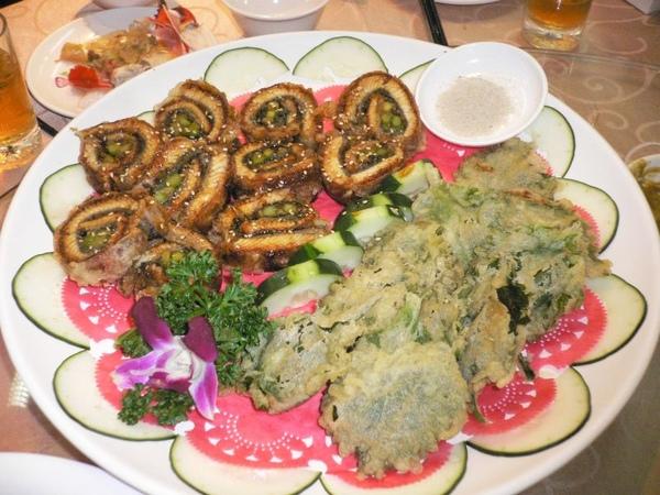 鰻魚卷拼紫蘇