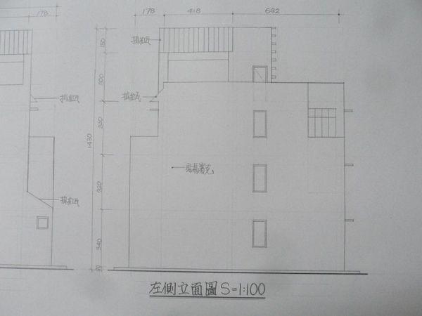 左側立面圖