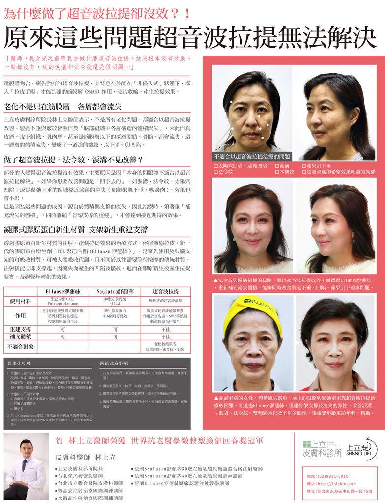 液態拉皮超音波拉提林上立醫師微整型抗老拉提法令紋下垂皺紋鬆弛下顎線 (6)