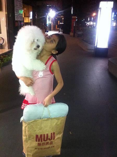 帶著Q比的行李,準備和她短暫分離․嗚~捨不得