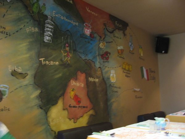 店內牆壁裝潢-地圖
