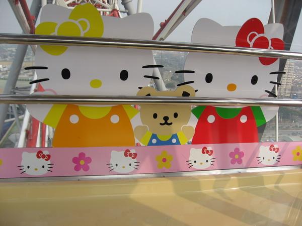 乘坐摩天輪的KITTY樣式