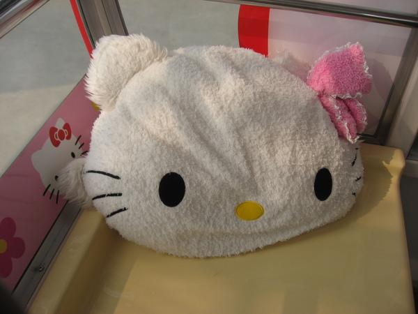 摩天輪內的kitty抱枕