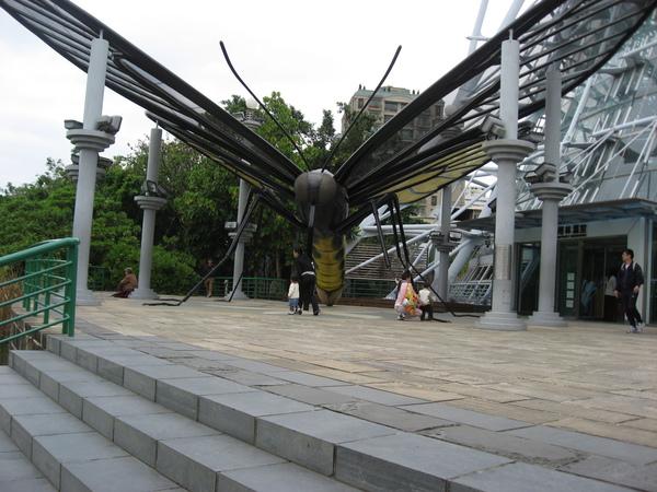 台中科博館植物園前的建築