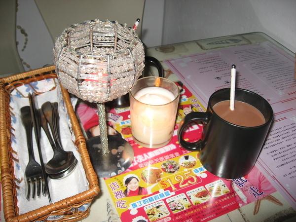 桌上蠟燭+可可