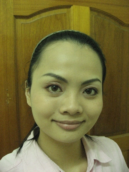 使用MQ RS733眼影盤之全臉照