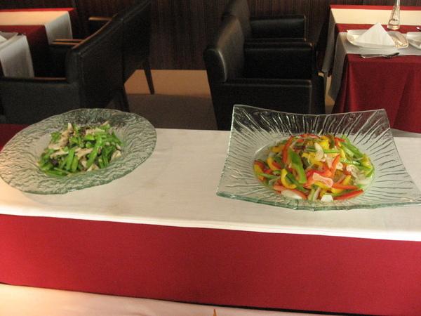 四季豆混杏鮑菇+甜椒混洋蔥
