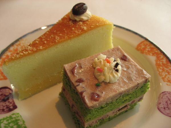 起司蛋糕+抹茶紅豆蛋糕