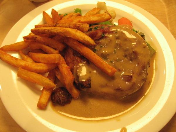 歐風漢堡排佐野菇醬