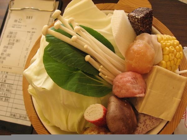 阿官火鍋的菜盤