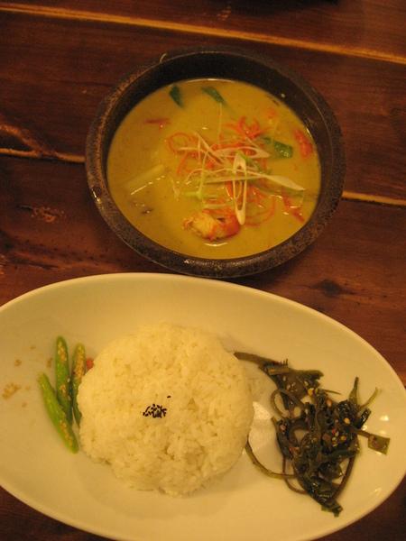 咖哩番的泰式蝦子綠咖哩