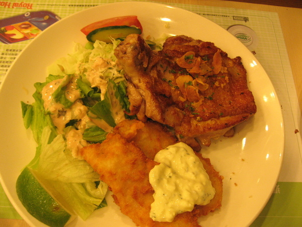 雞排+魚排特餐