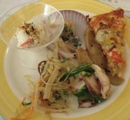 沙拉+涼拌菜+pizza