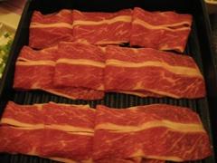 北澤壽喜燒的牛小排肉