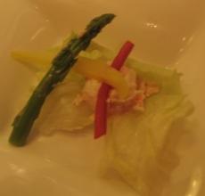 北澤壽喜燒的前菜-龍蝦沙拉