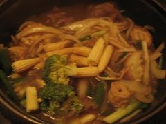 壽喜燒鍋正在煮的過程