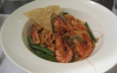 水相餐廳的茄汁海鮮義大利麵