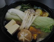 昕壽喜燒一開始的湯底+料