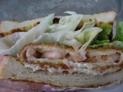 MOS法式炸蝦三明治正面