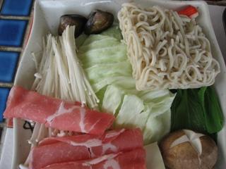 黑亼日式味噌鍋的配料