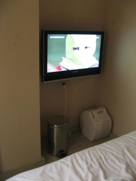 高雄站前康橋商旅 床前的液晶電視