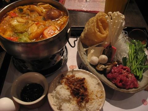 私房茶的泡菜火鍋