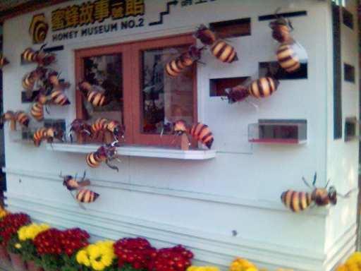 紙箱王內的紙蜜蜂.jpg
