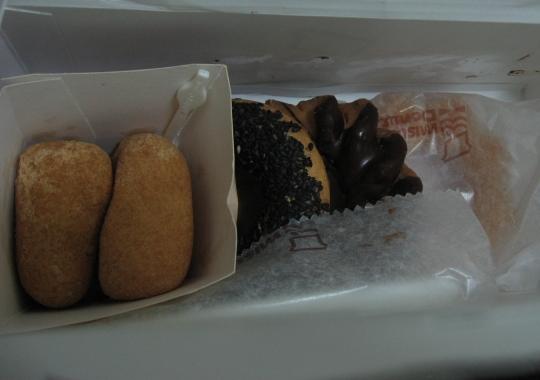 20090614買的mister donut甜甜圈.JPG