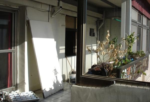 裝潢前的陽台