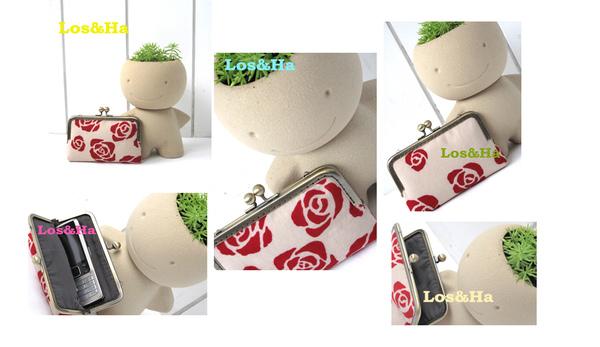紅玫瑰手機口金包1