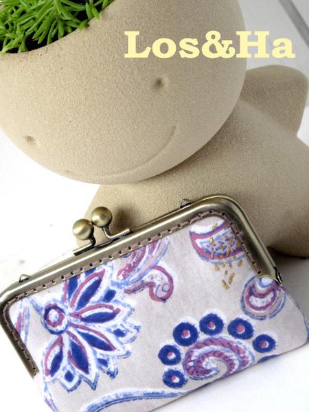 印度藕紫花手機口金包1