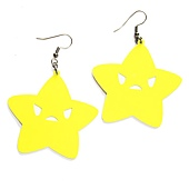 neon-yellow-star-earrings-small