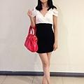 黑白小洋裝