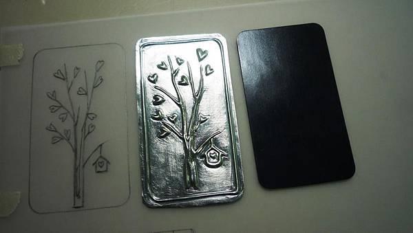 愛心樹錫雕磁鐵(蓉緹LTdecor)