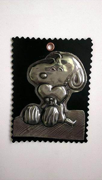史努比錫雕磁鐵貼