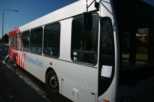 從市中心搭去園區的公車