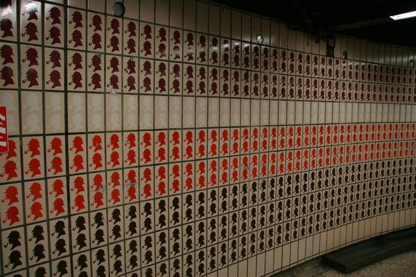 Baker Street statoin內部的磁磚