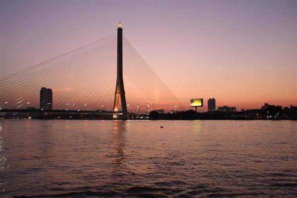 船上拍到的夕陽