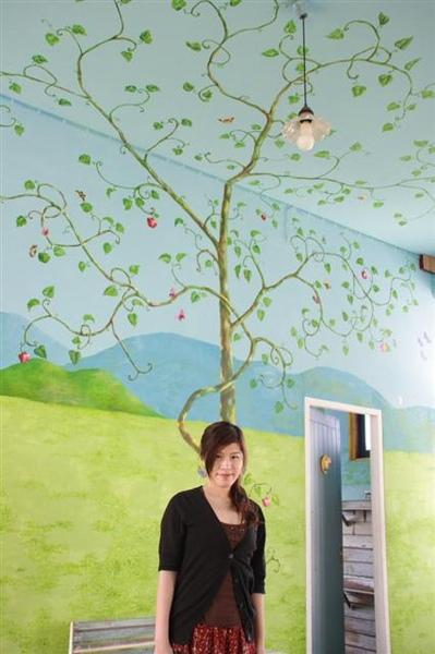 頂樓的壁畫