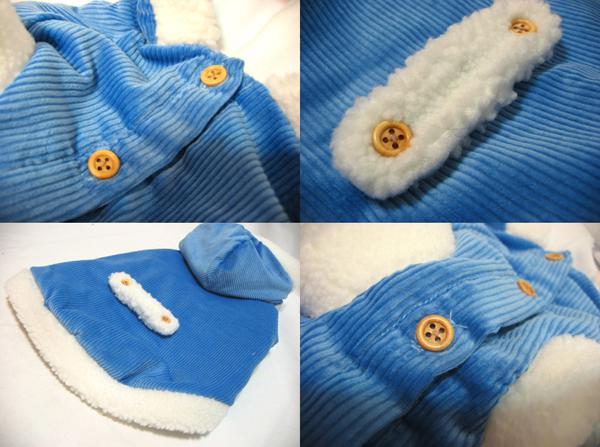 燈芯絨保暖連帽外套$690