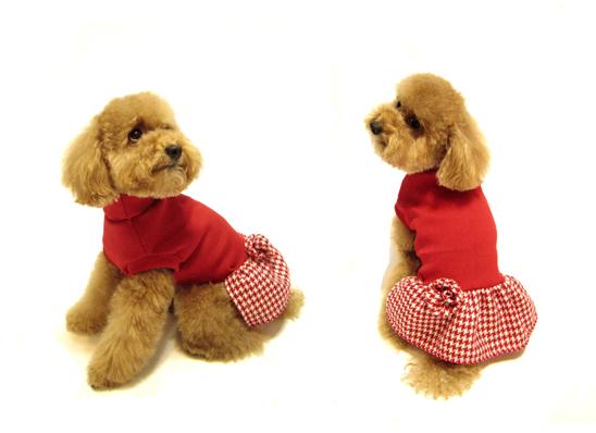 $680時尚高領洋裝 紅