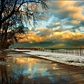 beaches_winter_sidewalk_reflection