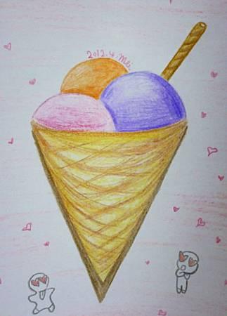 冰淇淋 V 筒