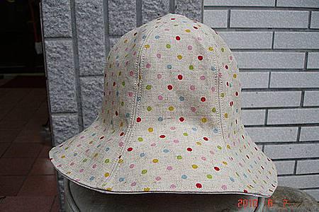 水玉2用帽
