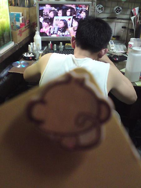 猴子哥的背影.....