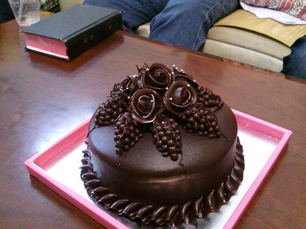 脆皮巧克力蛋糕~