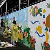 牆壁彩繪、手繪壁畫、壁畫工程、兒童房彩繪、彩繪工程、彩繪藝術、壁畫藝術、牆面設計、家飾彩繪--員工.親子彩繪實況-02.JPG